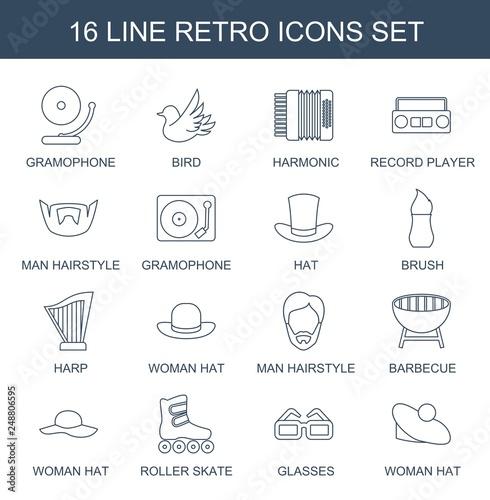 16 retro icons