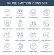 16 emotion icons