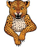 Cartoon Leopard mascot - 248809131
