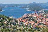 Panoramic view of Mali Losinj town, Croatia.