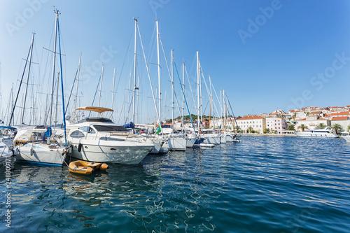 Marina in in Mali Losinj, Croatia.