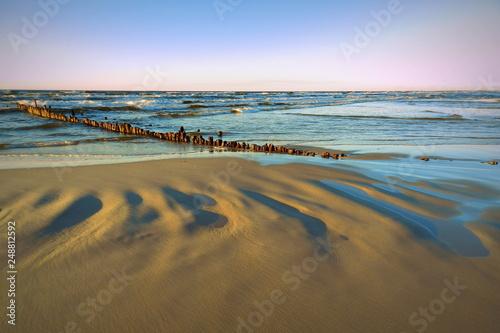 piękna plaża, Morze Bałtyckie