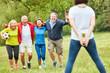 Leinwanddruck Bild - Senioren als erfolgreiches Gewinner Team