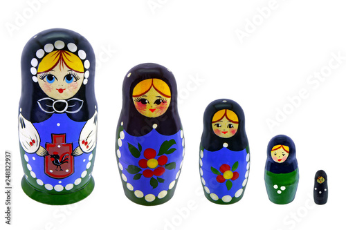 Toy souvenir five beautiful Russian nesting dolls © Алексей Петраков