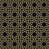 Seamless black and golden background for your designs. Modern vector ornament. Geometric abstract pattern - 248823186