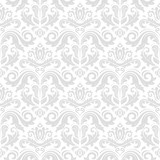 Classic seamless vector light pattern. Damask orient ornament. Classic vintage background. Orient ornament for fabric, wallpaper and packaging - 248824122