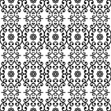 Floral vector ornament. Seamless abstract classic background with flowers. Pattern with repeating floral elements. Black and white ornament for fabric, wallpaper and packaging - 248824938