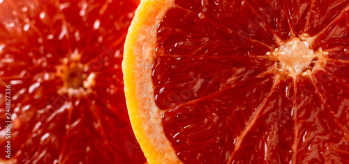 macro of red grapefruit - 248827336