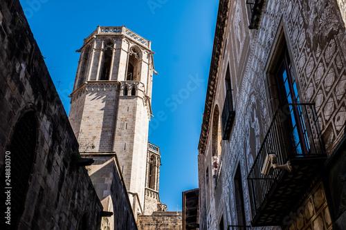 Rue du quartier gothique de Barcelone, Espagne