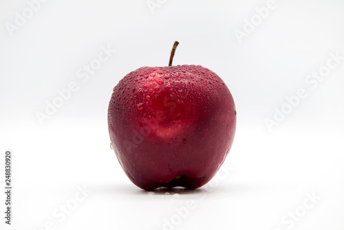 Foto Murales red apple isolated on white background