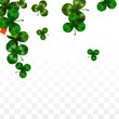 Vector Clover Leaf  and Ireland Flag Isolated on Transparent Background. St. Patrick's Day Illustration. Ireland's Lucky Shamrock Poster. Invitation for Irish Concert in Pub. Tourism in Ireland. - 248839724