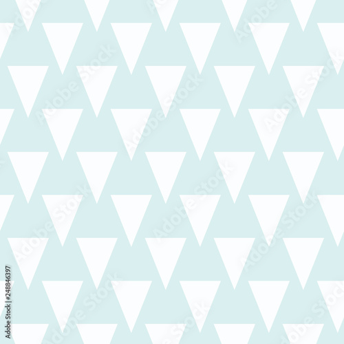 fototapeta na ścianę Triangle shapes repeat in this modern geometric seamless repeat pattern. Vector design in soft colors make it great for backgrounds, baby, fashion and home decor textiles and wallpaper.
