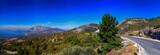 Panorama der Landschaft auf der Insel Samos