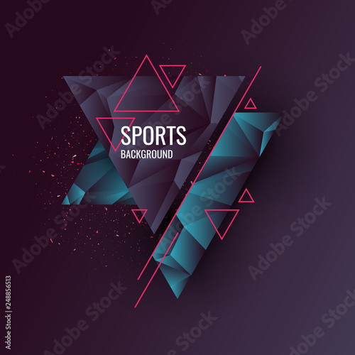 Abstract geometric background. Sports poster with the modern style. © aleksei_derin