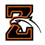 Letter Z with eagle head. Great for sports logotypes and team mascots.  - 248859936