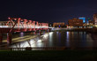 Union Railway Bridge, Des Moine, Iowa at Night