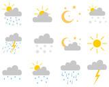 Set aus Wettersymbolen - 248879554