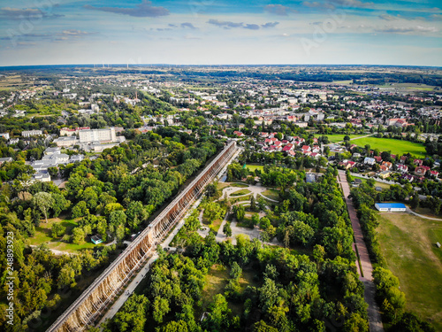 aerial view of Ciechocinek from a Drone