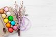Leinwanddruck Bild - Easter eggs