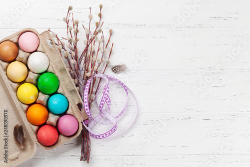 Leinwanddruck Bild Easter eggs