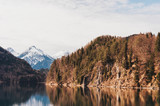 Alpsee lake in the Ostallgäu district of Bavaria, Germany, image taken in early spring