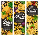 Italian pasta with seasonings, menu banners - 248923741