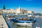 View of a nice fishing harbor and marina in Trani, region Puglia, Italy - 248926701