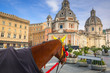 Horse carriage in the old town of Rome, Italy