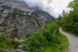 Weg in den alpen, Wettersteingebirge, zugspitze