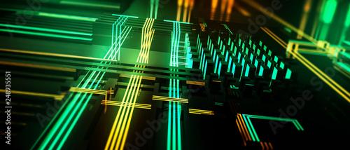 Hightech Hintergrund - 248935551