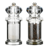 SALT AND PEPPER MILLS ISOLATED ON WHITE BACKGROUND - 248943990