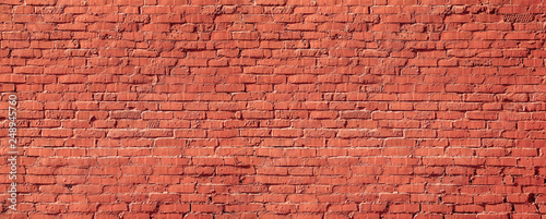 red brick wall texture - 248945760