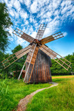 Amazing summer view of traditional romanian windmill - 248950389