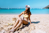 Teenaqe girl relaxing on the beach in Thailand - 248979322