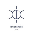 brightness icon from user interface outline collection. Thin line brightness icon isolated on white background.