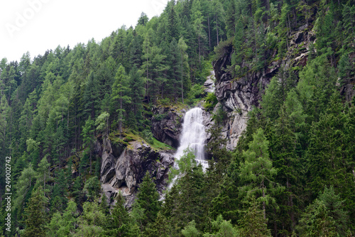 alpine waterfall in bad gastein, salzburg, austria © Wolfgang