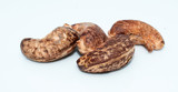 cashew nut on white background - popular nuts - 249003774