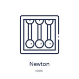 newton icon from science outline collection. Thin line newton icon isolated on white background.