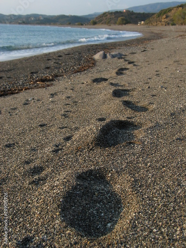 canvas print picture beach in Chios, Greece