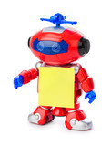 Toy robot with blank paper - 249030545