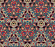 Kaleidoscope seamless pattern, background. Colorful abstract shapes. Useful as design element for texture and artistic compositions. - 249033592