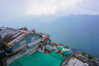 Houses on the mountain. Panorama of the city Darjeeling. Indian Himalayas - 249035595
