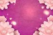 Elegant paper flowers frame - 249036149