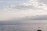 Mediterranean sea with the Taurus Mountains in Antalya, Turkey