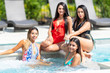 Teen Girls At The Pool