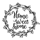 Original hand lettering Home sweet home