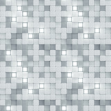 Seamless pattern of white and glowing tiles 3D render - 249063108
