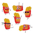Funny fried potatoes illustration isolated. Food concept. - 249069321