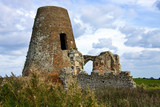 Ruins of St Benet Monastery at Holm - Norfolk Broads - England poster