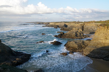 "Постер, картина, фотообои ""Port Covo at the Alentejo Coast of Portugal near Sines"""